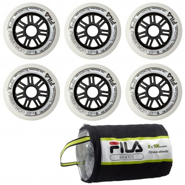Fila 100mm replacement wheels 6-Pack