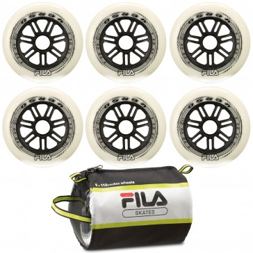 Fila 110mm replacement wheels 6-Pack