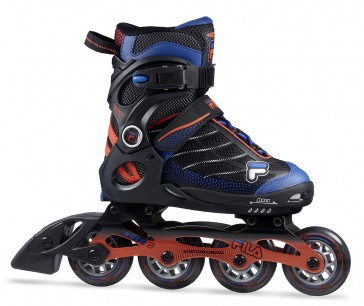 Fila Wizy Alu kids inline skates black blue orange
