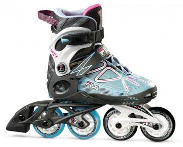 Fila Wizy Girl inline skates black blue magenta