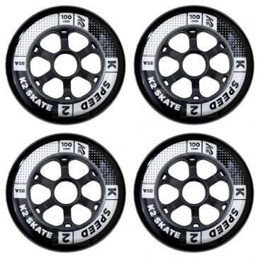 K2 100mm wheels black