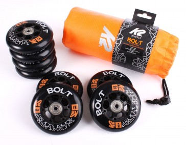 K2 90mm / 85a wheels with ILQ 9 bearings and Spacer