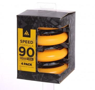 K2 90mm wheels yellow