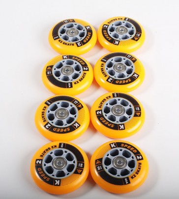 K2 90mm wheels complete set with bearings and spacers