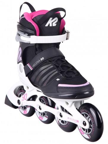 K2 Helena 90mm skates black pink