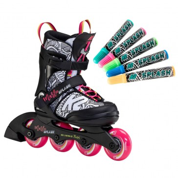 K2 Marlee Splash paintable kids inline skates