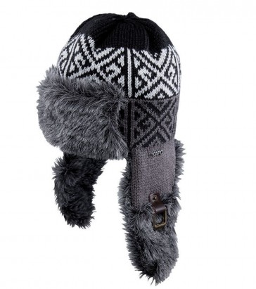 Capo Beanie Fur cap with knitting Inka