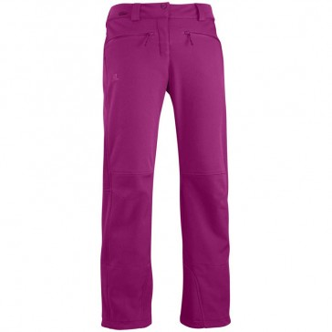 Salomon Snowflirt womens snowboard pants purple