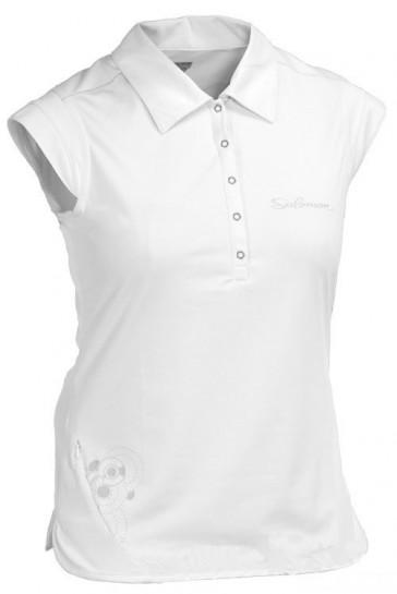 White polo shirt by Salomon
