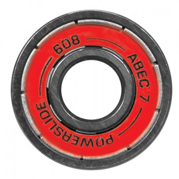 Powerslide Abec 7 Bearings 16 pieces red