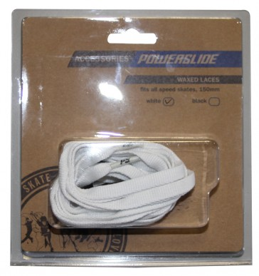 Powerslide waxed laces white