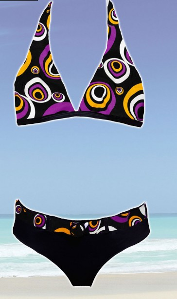 Sun Project neck bikini holder purple/black/orange