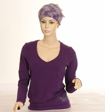 Oxbow Damen Sweatshirt Felise Stretch Violet