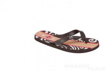 Rubber slippers of Oxbow Fikler Tong dark brown