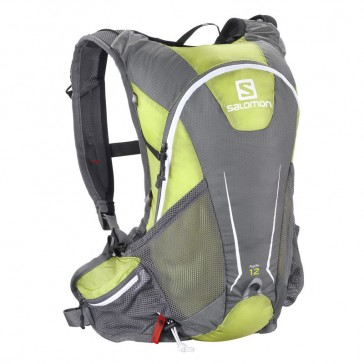Salomon Agile 12 Set backpack green/grey