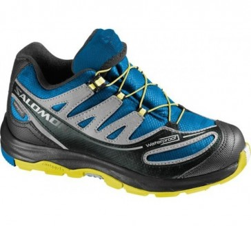 Salomon Xa Pro 2 Wp shoes for kids blue/yellow
