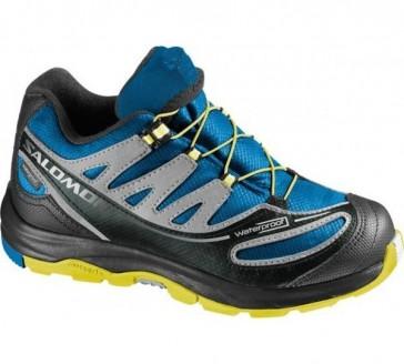 Salomon Xa Pro 2 Wp shoes for kids blue/yellow