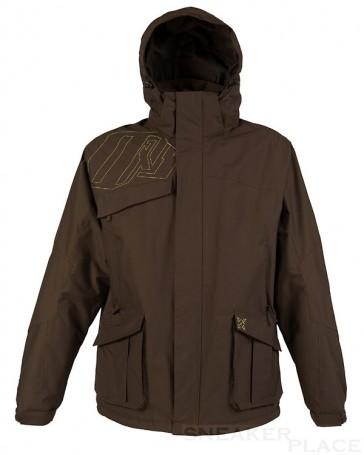Oxbow men in dark brown winter coat Rilhan