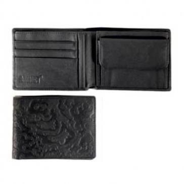 Addicted purse/wallet black leather brown