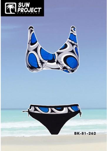 Sun Project blue D Cup Bikini