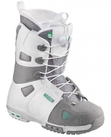 Salomon Savage snowboard boots men white/grey
