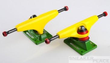 Sensi B127 yellow/green Bullet Skateboardtrucks Set