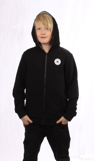 Converse Authentic Hooded Jkt Kids Black