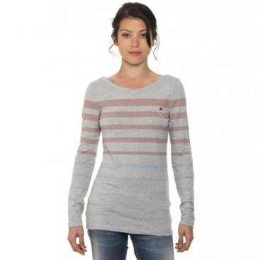 Ladies Shirt Grey Longsleeve Dunkan