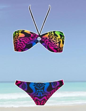 Sun Project Bandeau Bikini neon
