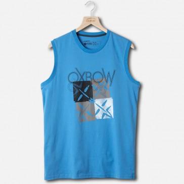 Oxbow T-shirt sleeveless shirt Cubesl Blue