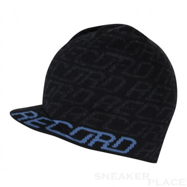 Record Brook Shield Black beanie with visor