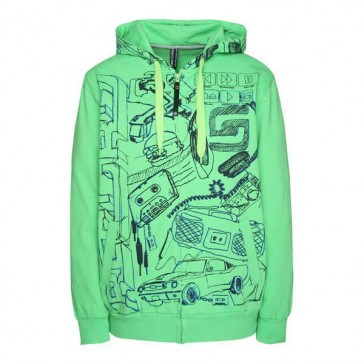 Record Zip Up Hood Scroove ginger