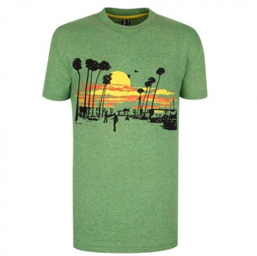 Record Youths T-Shirt Palma green melange