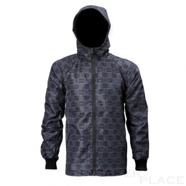 Checkered wind and rain jacket Reell gray