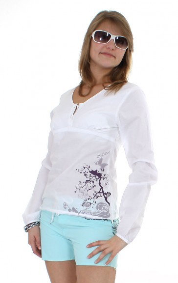 Oxbow long sleeve tunic white