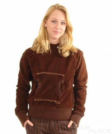 Split jacket cho women brown