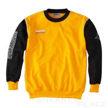 Sweatshirt Primera yellow / black
