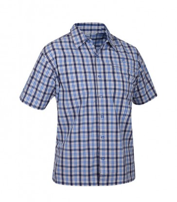 Salewa Triumph Dry Men Shirt chekered blue