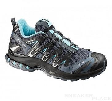 Salomon XA Pro 3D Ultra 2 women grey denim/black/atol-x shoes