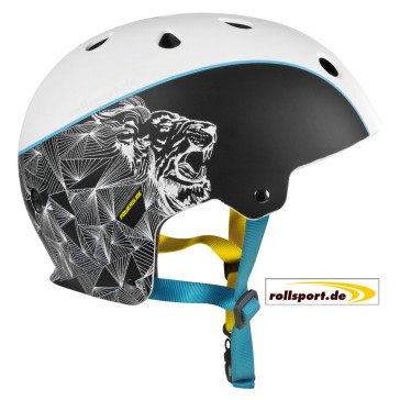 Powerslide King Helmet black white blue