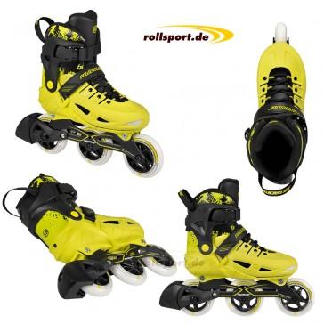 Powerslide Phuzion Universe kids hardboot skates yellow
