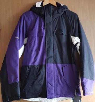 Ripzone Men Snowboard Jacket Addiction Black/White/Purple