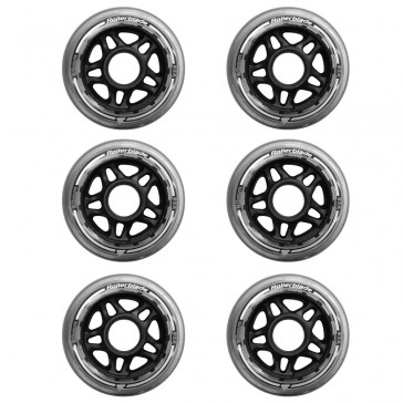 Rollerblade 80mm/82a wheels without ball bearings 6-pack