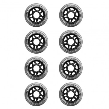 The picture shows the rollerblade wheels in 80mm.