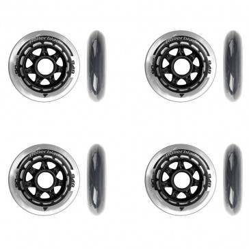 This picture shows you the Rollerblade 90mm wheels with the same color and without ball bearings