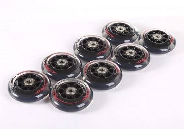 Rollerblade 90mm / 84A wheel set with bearings