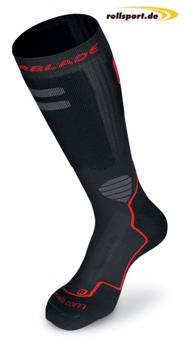 Rollerblade socks black red