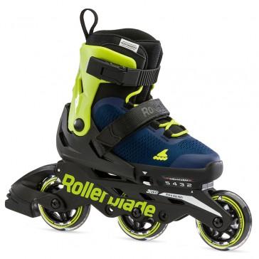 Rollerblade Microblade 3WD kids skates Blue Royal / Lime