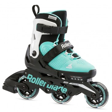 Rollerblade Microblade 3WD girls skates water blue/white