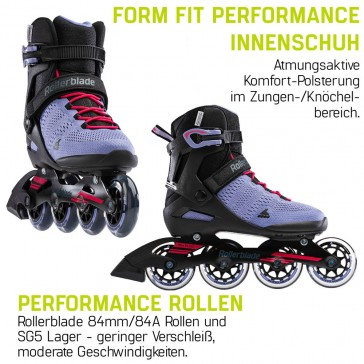 Rollerblade Sirio 84 black / purple